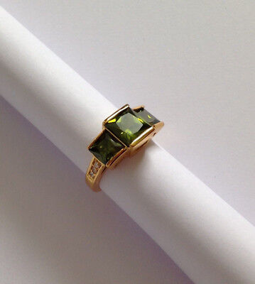 Art Deco Style Peridot Ring Wonderful Condition