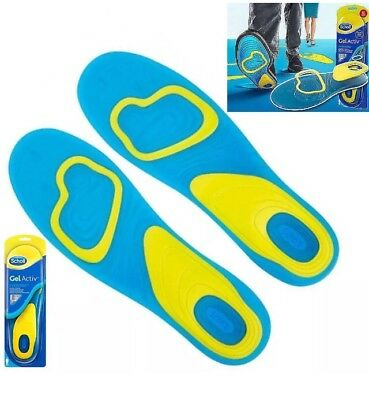 SCHOLL GEL ACTIVE Activ EVERYDAY WORK SPORT INSOLES for MEN ALL SIZES New