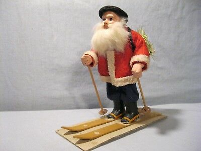1920's German Santa on skis