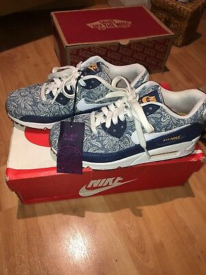 new concept e9cf4 95490 Nike Air Max 90 X Liberty Paisley Print Denim LIMITED EDITION