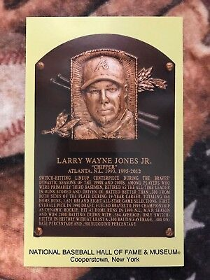 Chipper Jones Postcard- Baseball Hall of Fame Induction Plaque - Photo Braves