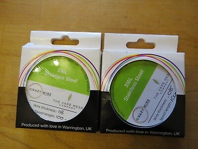 2 x 316L stainless steel crazy wire 0.08 mm (40 AWG) 100m