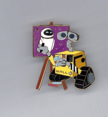 Disney Shopping Art Studio Series Wall-E Painting EVE Portrait LE 250 Pin & Card