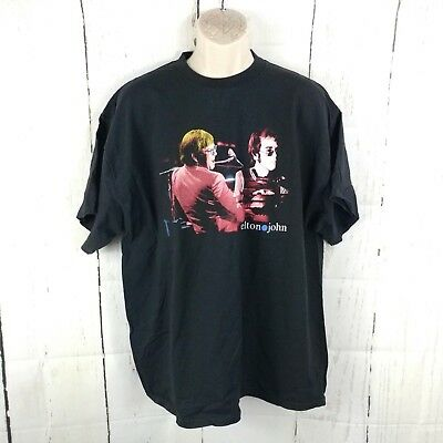 Elton John World Tour T-Shirt Black Size 2XL XXL Made In USA