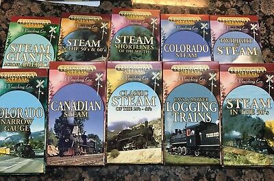 American Steam The Ultimate Rail Experience A Vanishing Era 10 Piece VHS set