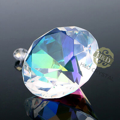 30mm Colors Glass Cut Crystal Diamond Paperweight Wedding Favor Gift Venue Decor