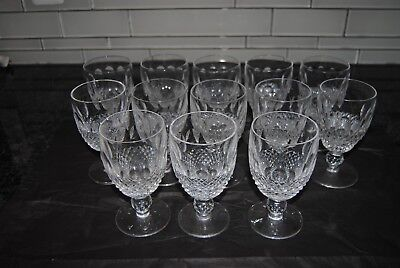 "Vintage Set of 13 Waterford Colleen Crystal Claret Wine Glass 4 3/4"" Signed!"