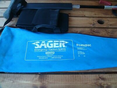 sager splint complete pack with cuffs straps unit and carry bag emt medic