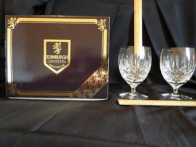 Edinburgh Crystal 2 Appin Pattern Gin and Tonic glasses Boxed Stamped