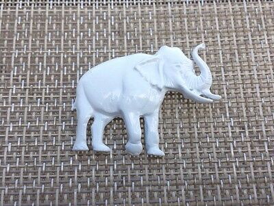 2  Africa  Zoo Animals White Elephant Pewter Pins All All New.