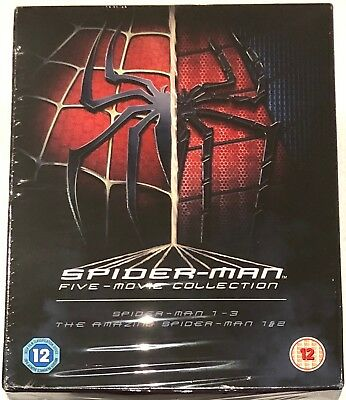 Spider-Man Complete Five-Movie Collection Blu-Ray Box Set **Region Free**