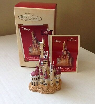 Hallmark Disney Ornament Beauty and the Beast Castle in the Forest 2002 NEW