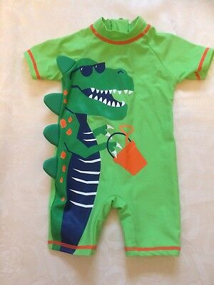 Crocodile All In One UPF 40+ Swimsuit, Age 6-9 Months