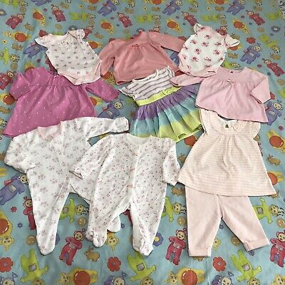 Baby Girls First Size Lovely 10 Piece Bundle Of Clothes