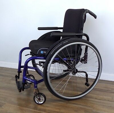 Quickie GT wheelchair, Schwalbe tires, loaded with upgrades - ti-tilite-spinergy