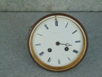 Old Antique French Japy  Movement & Porcelain Dial Mantle Shelf Clock Parts