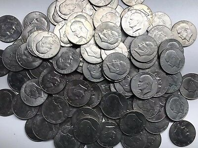 LOT of 150 $1 EISENHOWER (IKE) Silver Dollar circulated U.S. Coins No Reserve