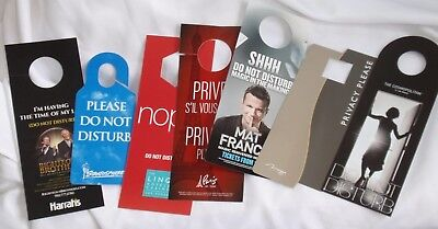 LOT of 7 Las Vegas Casino Hotel - COSMOPOLITAN / Mirage  - DO NOT DISTURB SIGNS