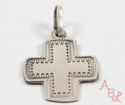 Sterling Silver Vintage 925 Religious Cross Dangle Pendant (2.2g) - 745738