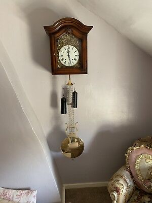 French Morbier Large Pendulum Clock Very Unusual