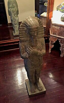 Egyptian Pharaoh Statue in Egyptian Green Marble - NO REASONABLE OFFER REFUSED!