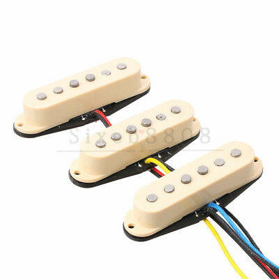 3PCS Alnico 5 Single Coil Pickup SSS for Start ST Guitar Alnico V Ivory