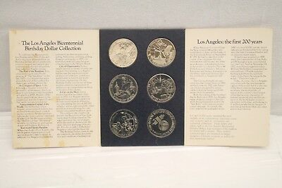 Brand New Los Angeles Bicentennial Birthday Dollars Collection, 6 coin set