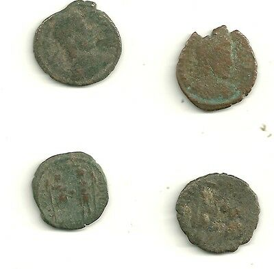 4 Authentic  old Ancient Coins