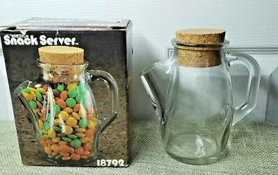 Vintage Wheaton Glass Pitcher Snack Server In Original Box Great For M & M's