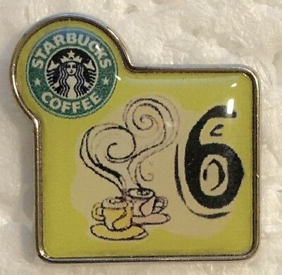 Starbucks 6th anniversary pin barista partner apron hat - Greece - super rare!!