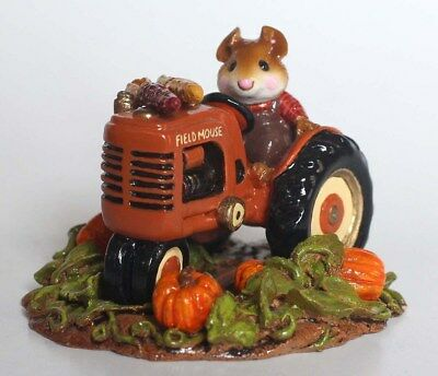 NEW Wee Forest Folk Field Mouse M-133aLimited Edition Fall - Tractor Farmer