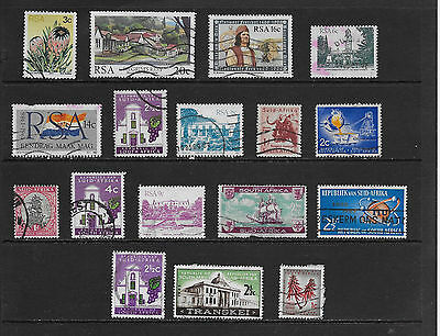 South Africa Stamps Mixed Lot of 17 Different Older Used Stamps