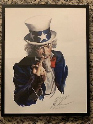 Alex Ross US Uncle Sam Political Signed Numbered 123/500 Framed Print SDCC