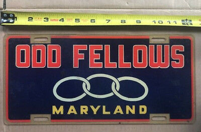 1970s? MARYLAND license plate  - Independent Order of Odd Fellows   Baltimore