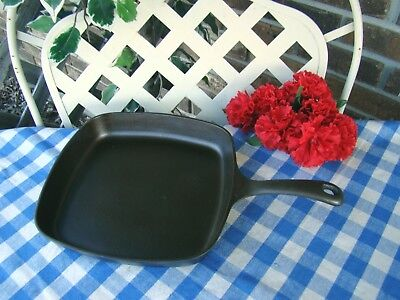 Griswold Cast Iron Medium Logo Square Skillet #55 –Cleaned and Seasoned