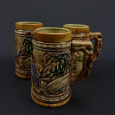Vintage set of 3 Made in Japan Beer Steins - Excellent Condition!