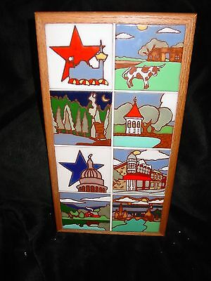 Fabulous Southwestern Art Tile Studio 8 Scenic Views Texas Framed Colorful