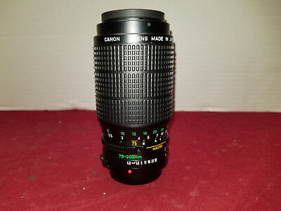 Canon Zoom Lens FD 75-200mm 1: 4.5 Made in Japan