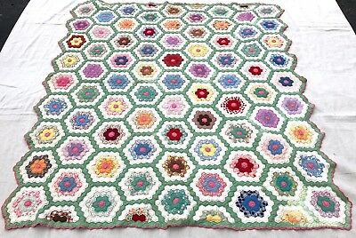 """Antique Late 19th Century Cutter Quilt or for Restoration 76"""" x 68"""""""