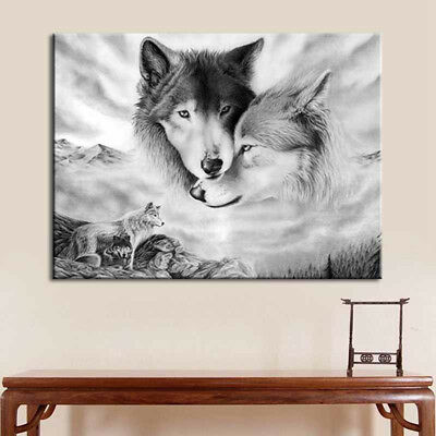 Anime Wolf Poster Painting HD Print On Canvas Home Decor Room Wall Art Picture