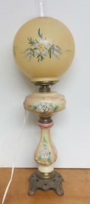 Antique Hand Painted  GWTW Lamp - Artist Signed - Electrified