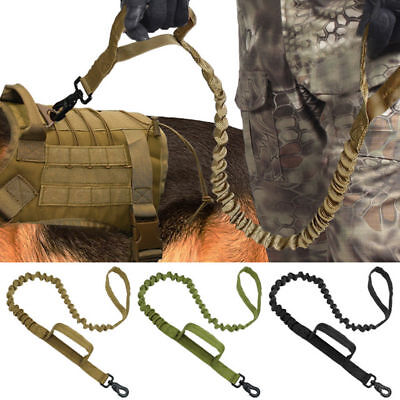 Training Military Tactical Dog Leash Release Elastic Bungee Canine Leads Belt