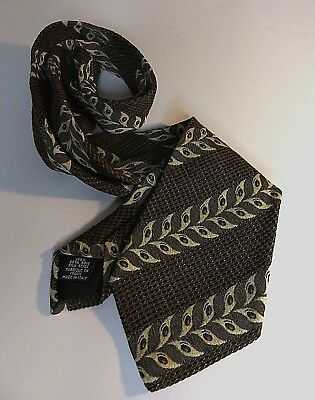 Hugo Boss Mens Tie Black 100% Silk Tie Textured Pattern Necktie Made in Italy F8