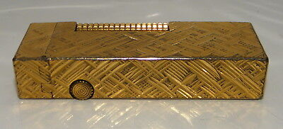 vintage Dunhill Gold plated lighter Made in Switzerland U. S. RE 24163 Patented