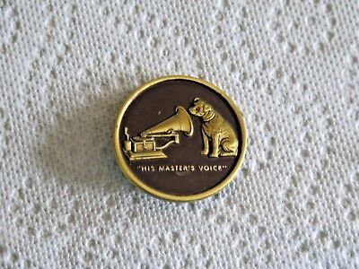 Rca Victor Badge Pin  His Masters Voice Dog Phonograph Vintage Piece