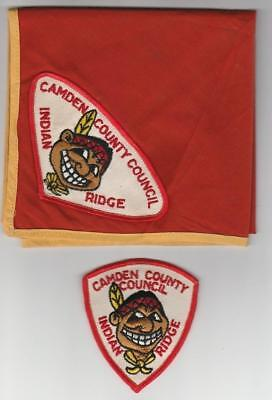 Camp Indian Ridge 1960s neckerchief patch set lot