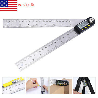 200mm Stainless Steel Digital Universal Angle Protractor Goniometer Finder Ruler