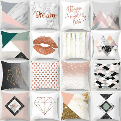 1PC Geometric Printed Polyester Throw Pillow Cases Sofa Cushion Cover Home Decor
