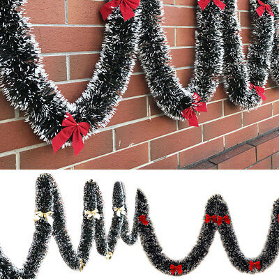 Christmas Garland for Home Window Door Fireplace Wall Decoration with Bow -BM92