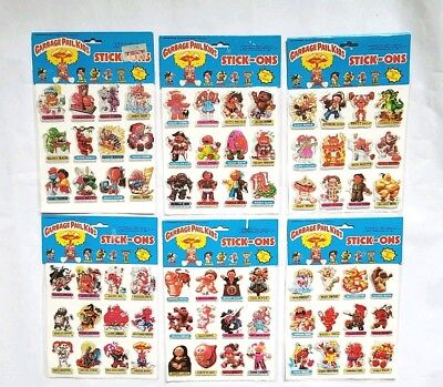 Vintage New 1986 Garbage Pail Kids Stick-On Stickers Set #2 - Topps Cards Gpk